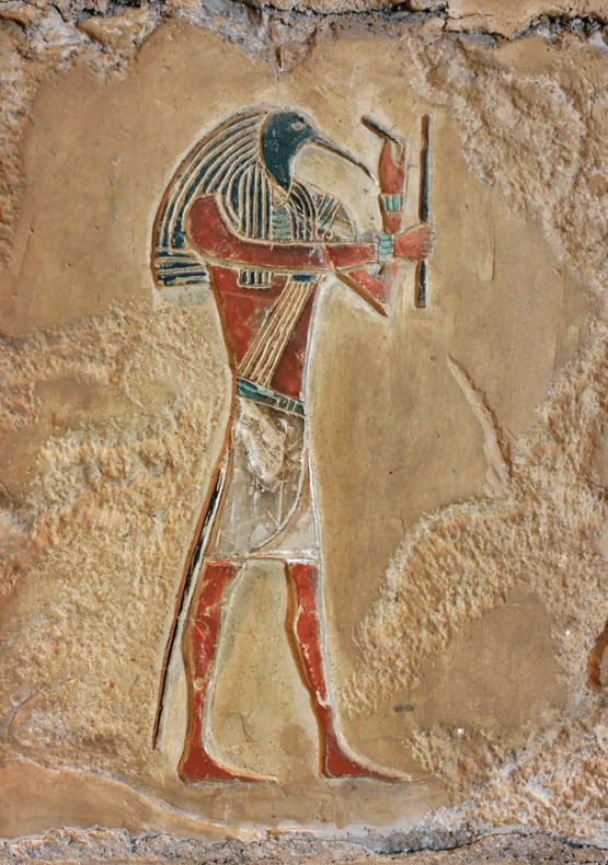thoth-carving-on-rock-egypt