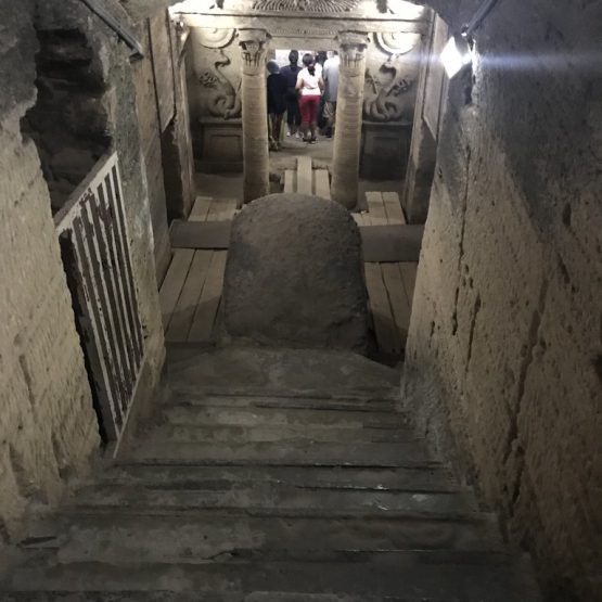 staircase-the catacombs of kom el shoqafa